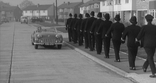Carry On Constable set at Pinewood Green and Pinewood Close
