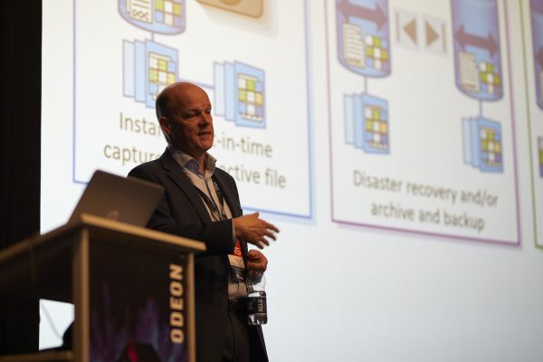 Grant Caley from NetApp at a SNS Event